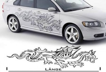 Autoaufkleber Drache, Dragon (als Paar geliefert)