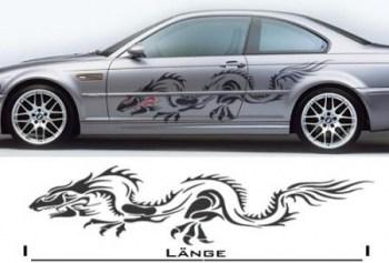 Drachenaufkleber fürs Auto (als Paar geliefert)