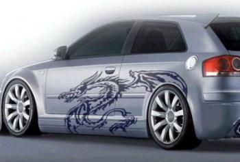 Aufkleber Dragon, Drachen Auto (als Paar geliefert)