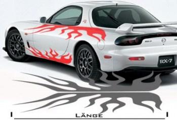 Flammensticker fürs Auto (als Paar geliefert)