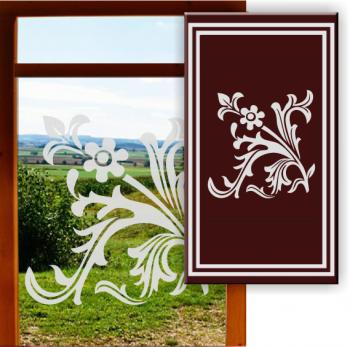 Sandstrahlfolie Fensterdekoration