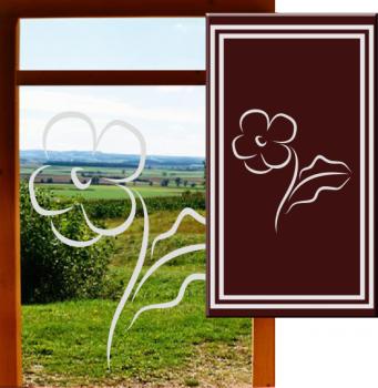 Fensteraufkleber Blume