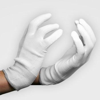 Nahtlose, fusselfreie Applikationshandschuhe