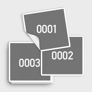 durchnummerierte Etiketten Aufkleber