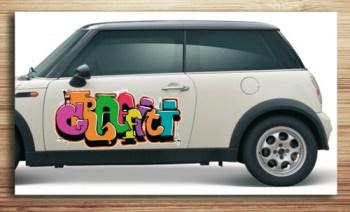 Aufkleber, Autoaufkleber Graffiti Style