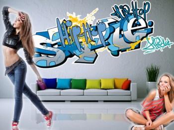 wandtattoo graffiti. Black Bedroom Furniture Sets. Home Design Ideas
