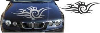 Autoaufkleber für die Motorhaube