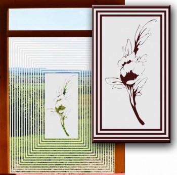 Fensterglasdesign selbstklebend