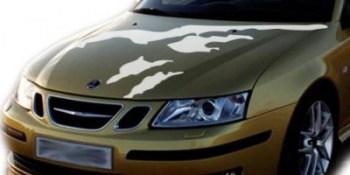 Autoaufkleber für die Motorhaube.