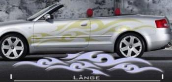 Autoaufkleber (als Paar geliefert) Autoaufkleber für z.B. Audi