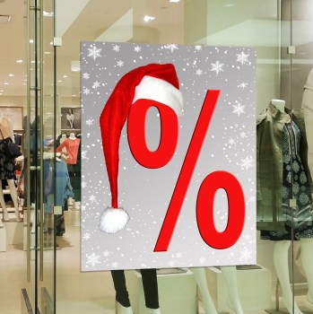 Weihnachten Prozente Aufkleber