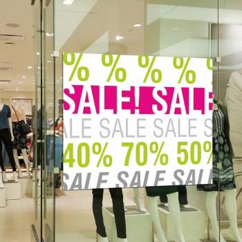 Prozente Rabatte Aufkleber oder auf Adhäsionsfolie