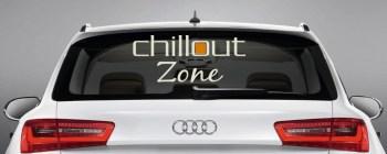 Aufkleber zweifarbig Heckscheibenaufkleber - Chillout Zone -