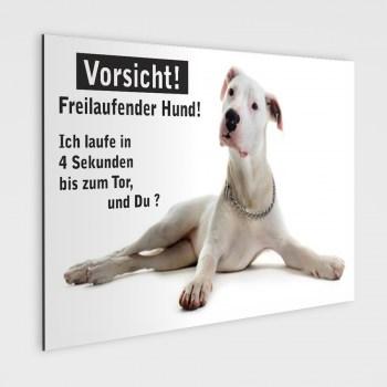 Deutsche Doggen Schild -  Vorsicht freilaufender Hund!