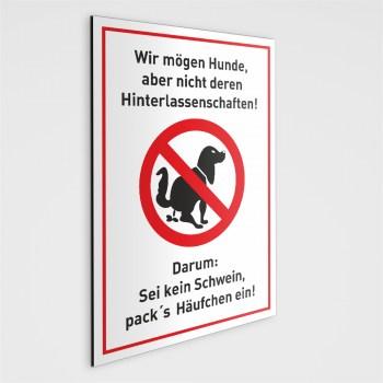 Hundekot Schild - Bitte entfernen Sie..!