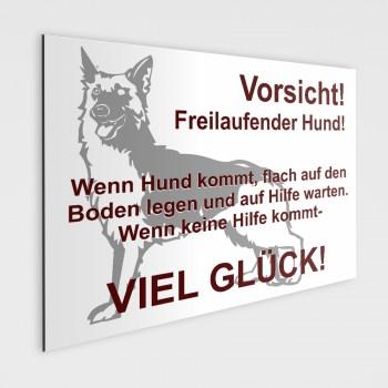 Schäferhunde Schild - Vorsicht freilaufende Hunde!