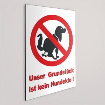 Unser Gundstück ist kein Hundeklo!! Schild