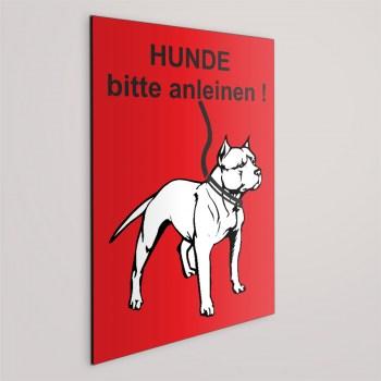 Hunde bitte an die Leine! Schild - Leinenpflicht!