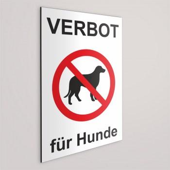 Schild - Verbot für Hunde - Hunde Verboten Schild