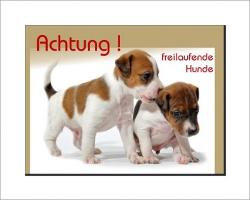Hunde Schild - Jack Russell Terrier