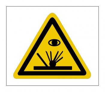 Gefahrenhinweis Schild, Funkenflug Schweißfunken!