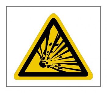 Gefahrenhinweis Schild, Warnaufkleber vor Explosionsgefahr!