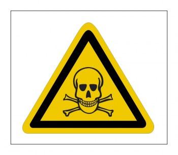 Gefahrenhinweis Schild, Warnaufkleber - Vorsicht Gift & giftige Stoffe!