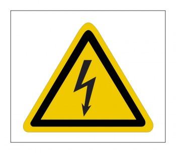 Gefahrenhinweis Schild, Warnaufkleber - Achtung Hochspannung !