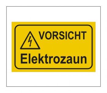 Gefahrenhinweis Schild, Warnaufkleber - Vorsicht Elektrozaun!