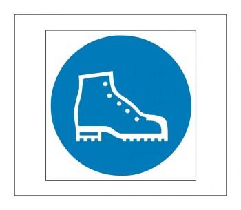 Hinweis Schild, Gefahrenaufkleber - Arbeitsschutzschuhe tragen!