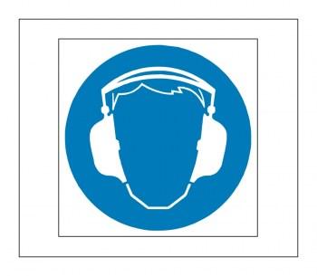 Hinweis Schild, Gefahrenaufkleber - Gehörschutz verwenden!