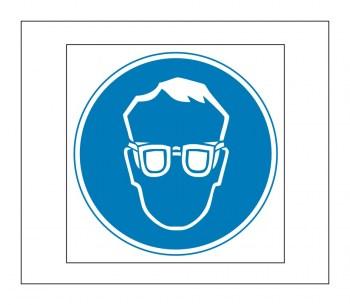 Hinweis Schild, Gefahrenaufkleber - Schutzbrillen Pflicht!