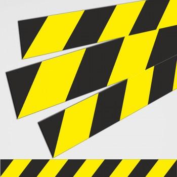 1 Hinweis Schild Aufkleber, Gefahrenstufen Gefahrenstreifen!
