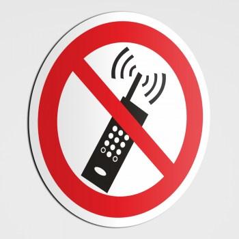 Verboten! Handyverbot Schild, Mobiltelefon bitte ausschalten!