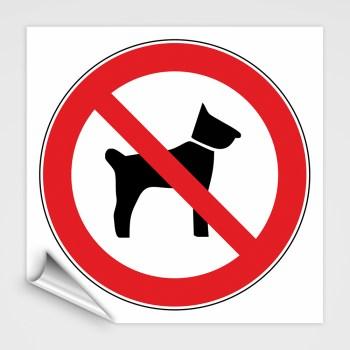 Verboten! keine Hunde Schild, Hunde verboten Aufkleber