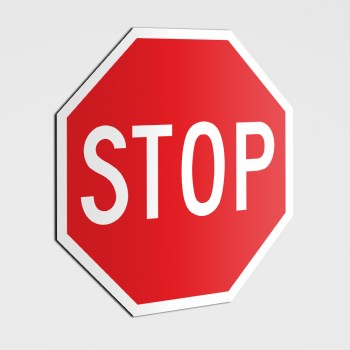 Stopschild! Bitte stoppen ! Stopaufkleber