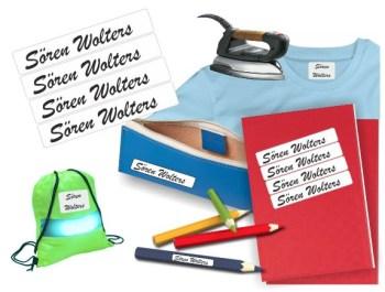 Namensaufkleber -  Wäscheschilder -  Bügeletiketten -  Namensetiketten