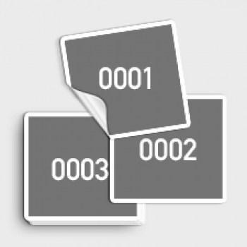 Fortlaufend nummerierte Aufkleber