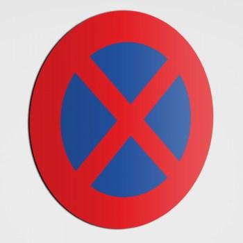 Verboten! Parkverbots Schild! Ausfahrt freihalten! Parken verboten Aufkleber