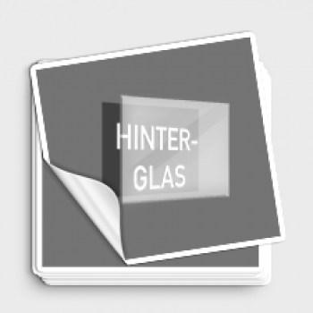 Hinterglas Aufkleber