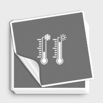 temperaturbeständige Aufkleber