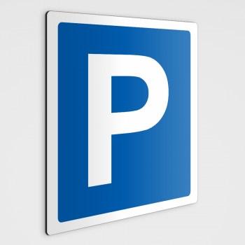 Parken Schilder, Parkplatz Schilder - Aufkleber im Druck