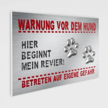 Warnung vor dem Hund!