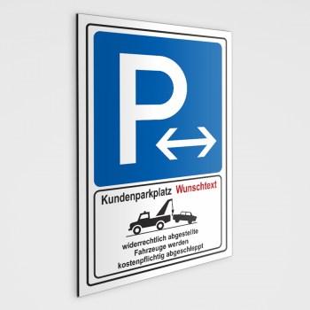 Parkplatzschild - Kundenparkplatz mit Ihrem eigenem Text