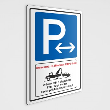P Mitarbeiterparkplätze Schild, als Parkschild-Parkenschild oder als Parkplatz Aufkleber