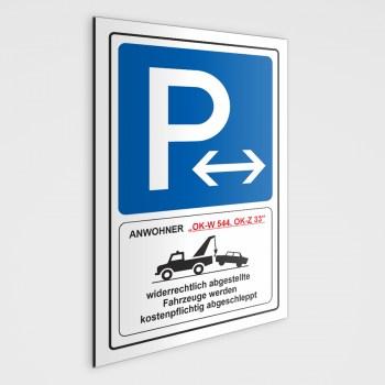 P Anwohnerparkplatz Schild, als Parkschild oder als Anwohnerparkplatz Aufkleber