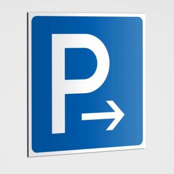 Parkplatz Pfeil nach rechts Schilder, Parkplatz Schilder - Aufkleber