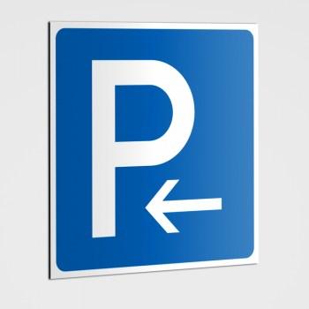 Parkplatz Schild, Parklatz Linkspfeil linksweisend - Aufkleber