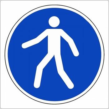 Gebotszeichen, Fußgängerweg, Fußgängerüberweg