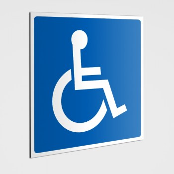 P Behindertenparkplatz Schild, Behinderten Parkplatz - Aufkleber